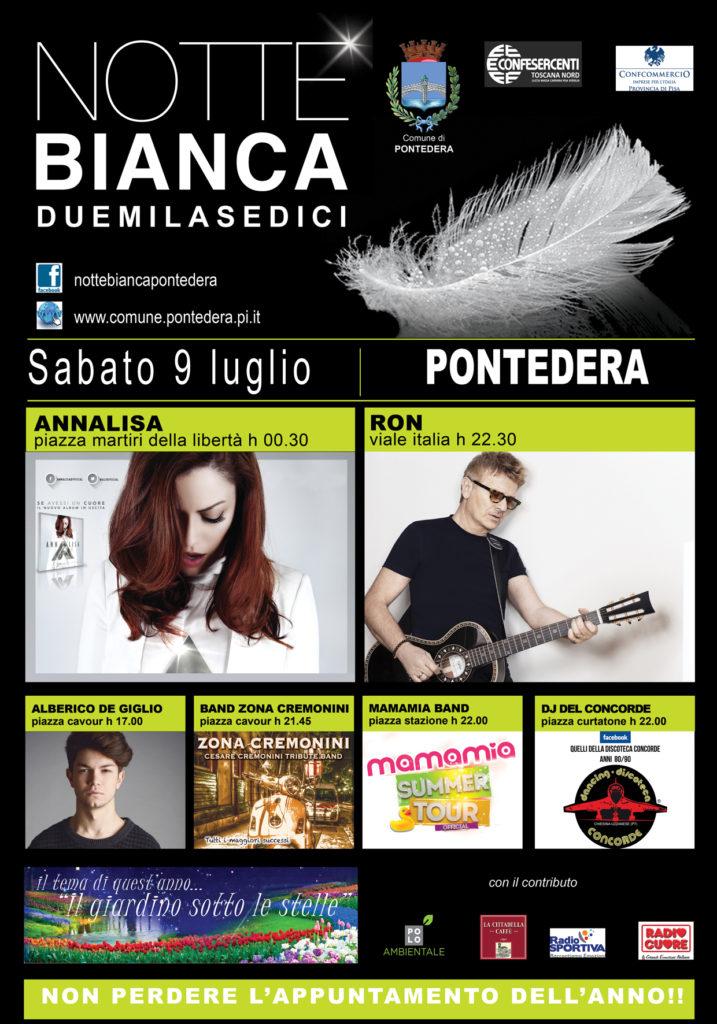 Festeggiamo l'estate: La Cittadella Caffè alla Notte Bianca di Pontedera – 9 Luglio 2016