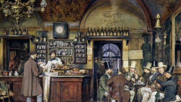 la-cittadella-caffe-ludwig-passini-artistas-en-el-cafe-greco-de-roma