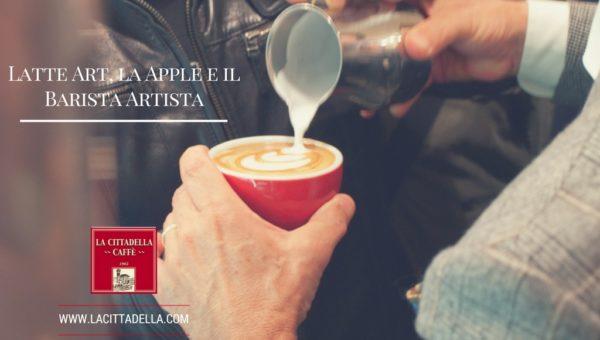 latte art apple barista artista