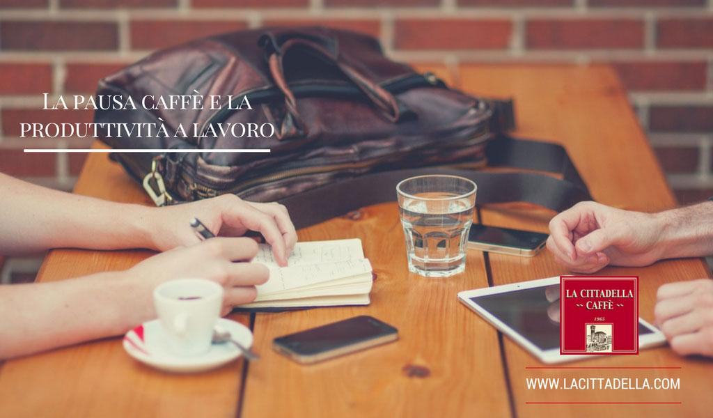 pausa caffè e la produttività